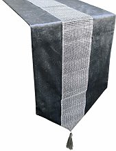 San Tungus Sequined Rhinestone Diamante Strip and