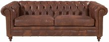 Sanabria Chesterfield Genuine Leather 2 Seater