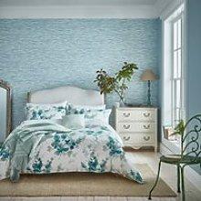 Sanderson Delphiniums Bedding in Mint