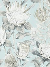 Sanderson King Protea Wallpaper