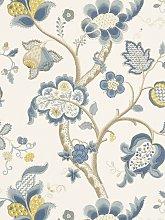 Sanderson Roslyn Wallpaper, DVIWRO102, Indigo /