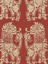 Sanderson Sicilian Lions Wallpaper, DVIWSI103, Red