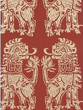 Sanderson Sicilian Lions Wallpaper, DVIWSI103, Red
