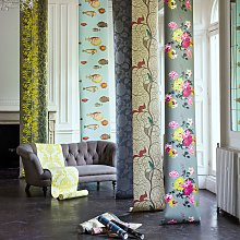 Sanderson Squirrel & Dove Wallpaper, DVIWSQ102,