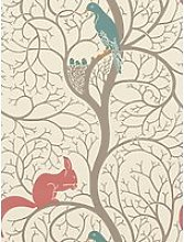 Sanderson Squirrel & Dove Wallpaper, DVIWSQ102,