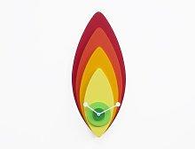 SanderSon Wall Clock Ebern Designs Colour: Orange