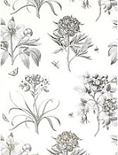 Sanderson Wallpaper, Etchings and Roses DPFWER106,
