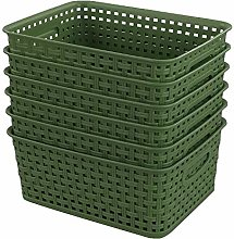 Sandmovie Plastic Woven Storage Baskets Drawer