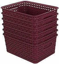 Sandmovie Plastic Woven Storage Baskets Drawer