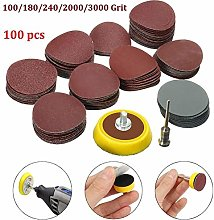 Sandpaper+Grinding Disc Set Mini Drill 1 Inch Pads