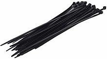 Sanfor 10177 Nylon Cable Tie Bag, Black