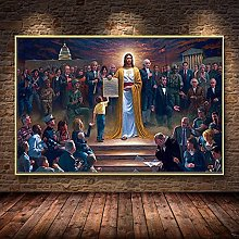 Sanguolun Art Print Jesus and the Bible Rescue