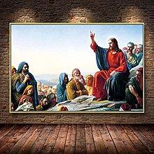 Sanguolun Art Print Jesus Missionaries and