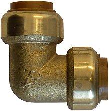 sanicomfort Brass Angle 18mm Push-fit 1931873