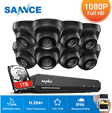 SANNCE 1080P Home Video Security System with 1080P