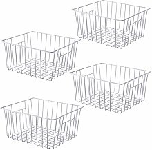SANNO Freezer Storage Organizer Baskets, Household