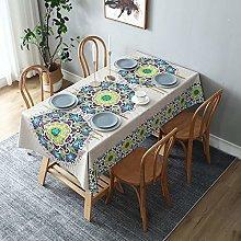sans_marque Washable Cotton Linen Table Cloth