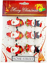 Santa And Snowman Christmas Wooden Pegs In A Pack