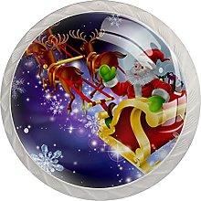 Santa Christmas 4 Pieces Knobs for Kitchen