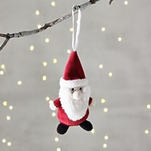 Santa Christmas Decoration, Red, One Size