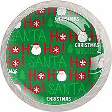 Santa Christmas Drawer Round Knobs Cabinet Pull