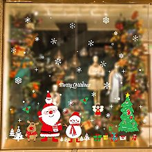 Santa Claus Decoration Christmas Glass Sticker
