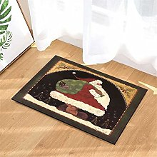 Santa Claus. Door Mat Front Door Carpet Non-Slip