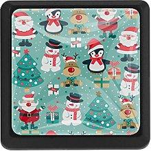 Santa Claus Snowman Deer Square Cabinet Knobs