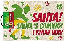 Santas Coming Door Mat (One Size)