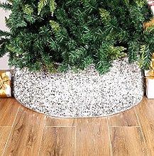 Santen Christmas Tree Skirt - Rattan Wicker