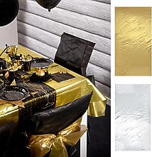 Santex Metallic Fabric Tablecloth silver