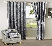 Santiago Curtain Pair Heavy Crushed Fully Lined