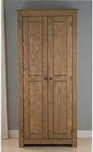 Santiago Pine 2 Door Wardrobe