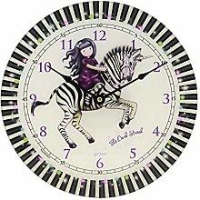 Santoro Gorjuss Glass Wall Clock - The Dark Streak