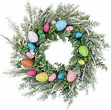 SANWOOD Easter Decoration Wreath,Flower Garland