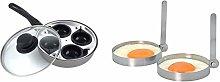 Sapphire 20 cm 4-Cup Egg Poacher & KitchenCraft