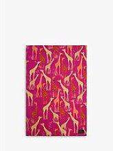 Sara Miller Giraffe Tea Towel, Pink/Multi