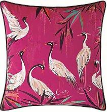 Sara Miller Heron Pink Filled Cushion Velvet