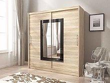 Sarah 2-2 Doors Sliding Mirrored Large Bedroom