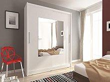 Sarah 9-2 Doors Sliding Mirrored Large Bedroom