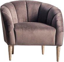 Sarah Tub Chair Canora Grey Upholstery: Brown