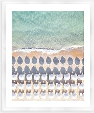 Sardinia Beach - Framed Print & Mount, 66 x 56cm,