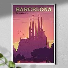 Sargada Familia Poster - Barcelona Travel Print |