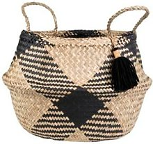 Sass & Belle - Black Brown Tribal Tassel Basket -