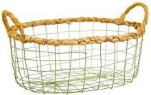 Sass & Belle - Green Wire Storage Basket Large