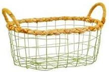 Sass & Belle - Green Wire Storage Basket Small