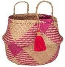 Sass & Belle - Pink Tribal Tassel Basket