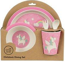 Sass & Belle - Rainbow Unicorn Bamboo Tableware