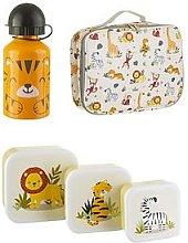 Sass & Belle Savanna Safari Set Of 3 Lunchboxes,