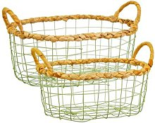 Sass & Belle - Seagrass and Wire Basket - large